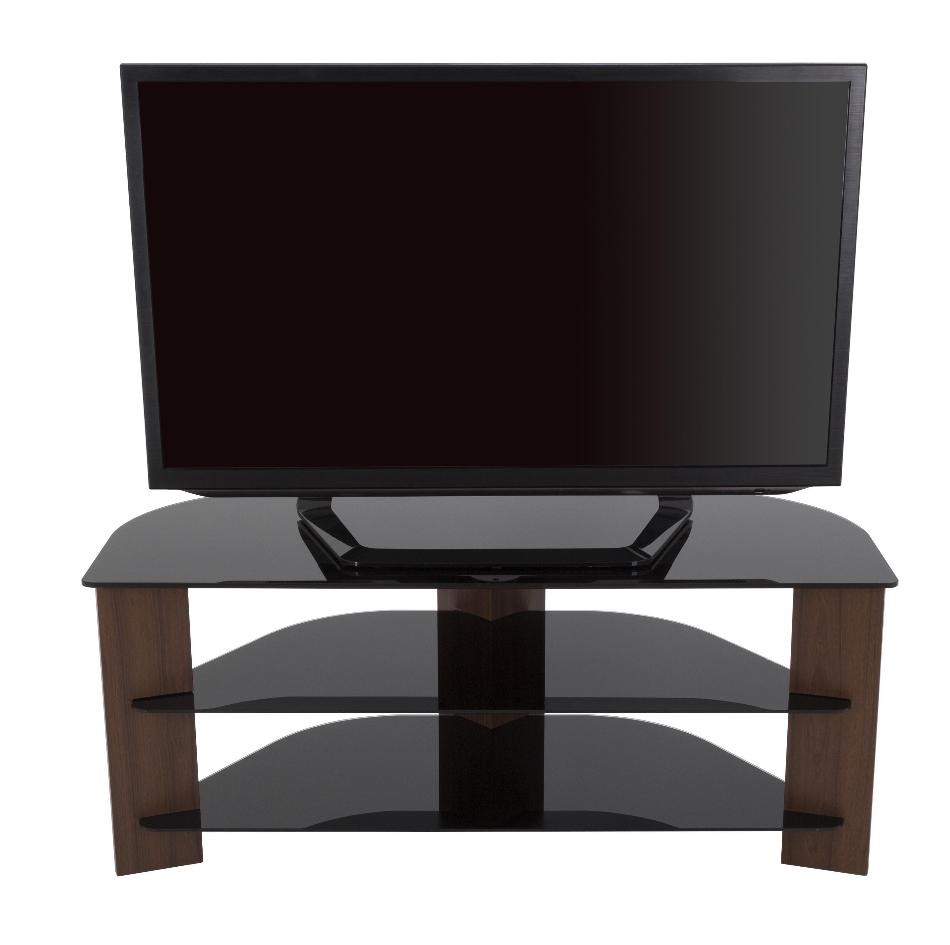 Avf fs1100varwb a varano tv stand with glass shelves for for Avf furniture