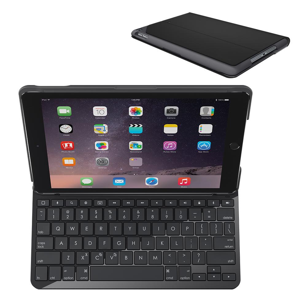 Amazon.com: Logitech iPad Keyboard Case | Slim Folio: Wireless Keyboard with Bluetooth (Black ...