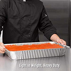 aluminum turkey thanksgiving catering roasting baking barbeque smokehouse pans