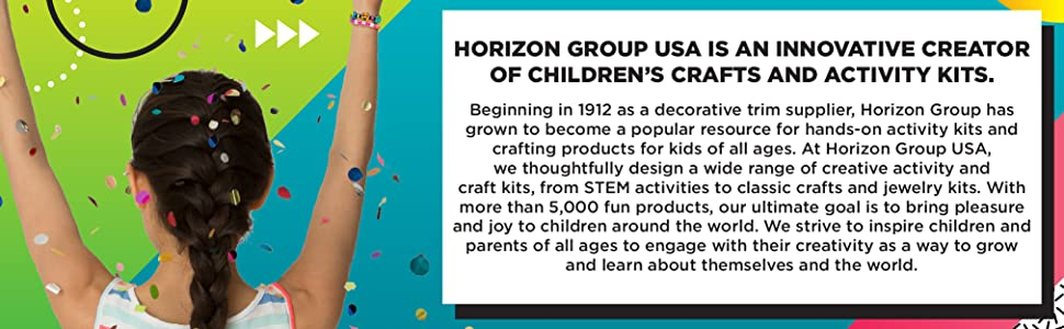 horizon group, horizon, crafts, kids crafts, stem, steam, kids activities, activity kits