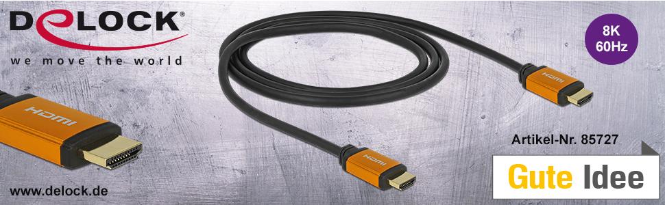 Delock Hochwertiges 8k Hdmi Kabel 60hz 48 Gbps 1 00 M Elektronik