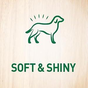 Soft and Shiny; Skin and Coat; Crafted; Nourish Skin; Keep Coats soft; Shiny; Recipe; Benefit Added