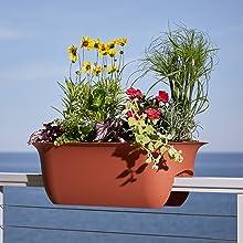 Modica Deck Rail Planters Hanging Pots Planter Patio Flowers