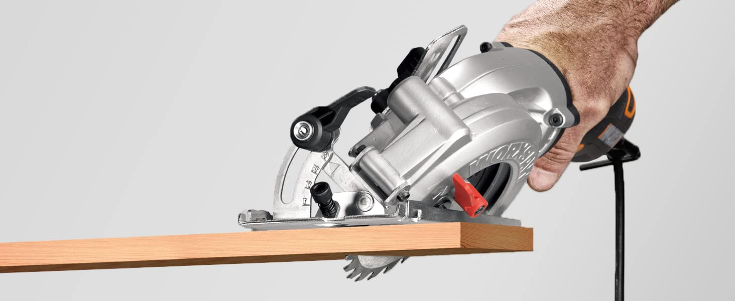 While the WORXSAW was made to cut 2x4s, you can set the depth to more