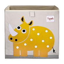 rhino zoo storage kids cute box cube theme animals