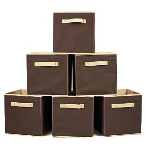 EZOWare Caja de Almacenaje Plegable, Cesta de Almacenamiento - Set de seis