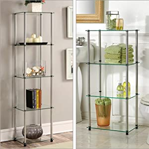 glass furniture shelving