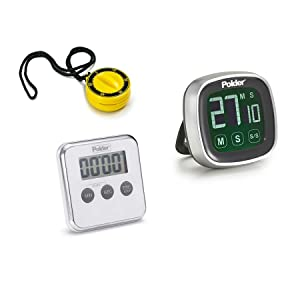 Polder 3-in-1 Timer Clock /& Stopwatch With Landyard Strap High Strength Magnets