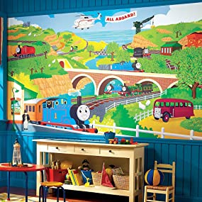 Roommates Thomas The Train Chair Rail Prepasted Removable Wall Mural 6 X 105