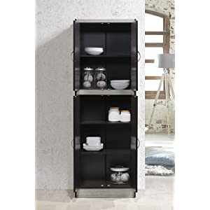 Hodedah 4 Door Kitchen Pantry With 3 Shelves