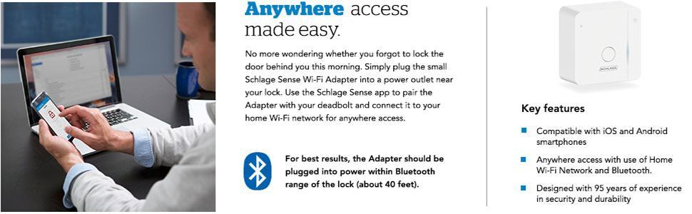 Schlage Sense Wifi Adapter Installation Bruin Blog