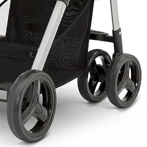 jeep reversible stroller swivel lock wheels suspsension