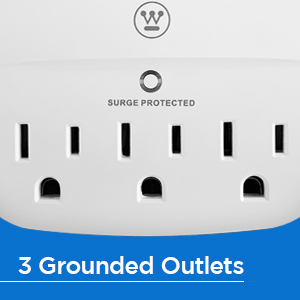 3 GROUNDED OUTLETS lets you power all your devices no matter what it is extra outlets