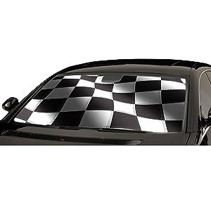 Intro-Tech Custom Racing Flag Auto Shade