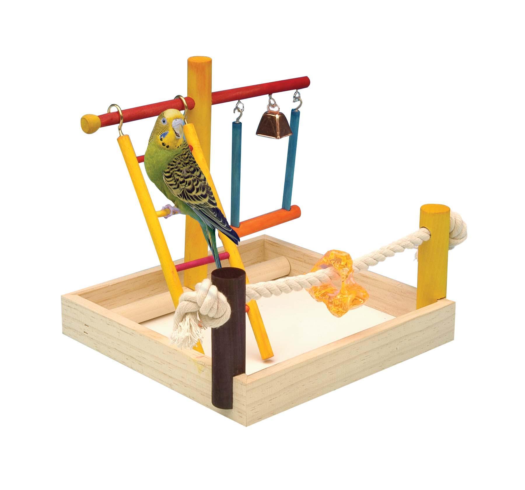 3 4 In Octagon Bird Toys : Amazon penn plax ba bird toy activity center