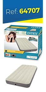 Intex 64709 - Colchón hinchable, 152 x 203 x 25 cm: Amazon ...