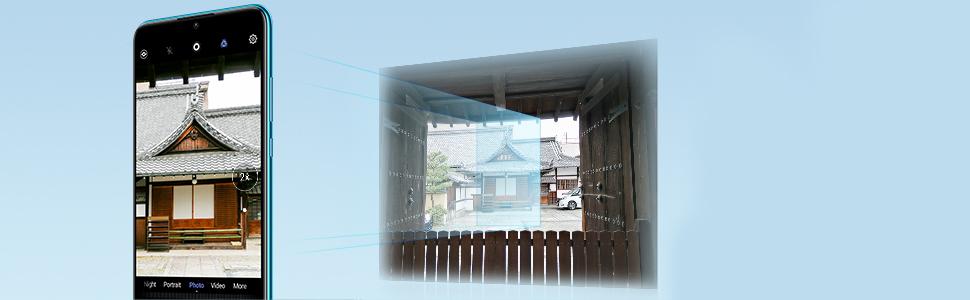 hyper sampling lossless zoom technology enhances the 48MP ultranlens to bena super zoom lens