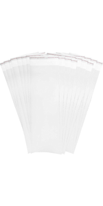 """Absorbent Industries 3 Mil Adhesive Top Clear Nylon Bag (2000 Pack), 6"""" x 18"""""""