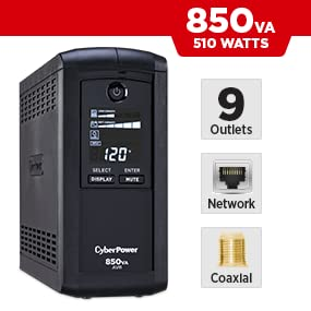 CyberPower CP850AVRLCD Battery Backup UPS