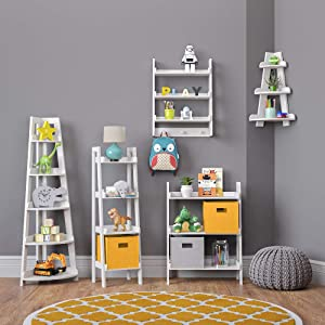 ladder shelf collection white