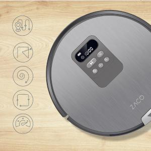 Zaco V80 – Aspirateur robot et laveur 2 en 1 – Silencieux