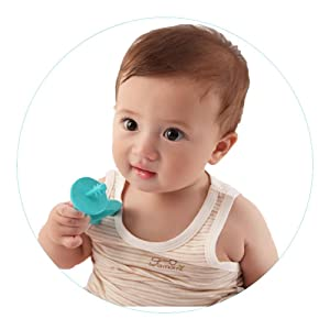 silicone teether stimulate senses teething