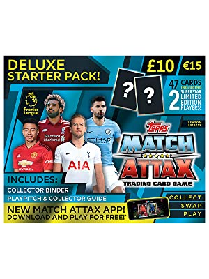 TOPPS MATCH ATTAX EXTRA TRADING CARD GAME PREMIER LEAGUE 2018//2019 STARTER PACK