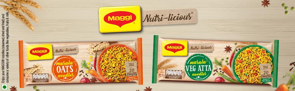 Maggi Nutri-licious Masala Veg Atta Noodles