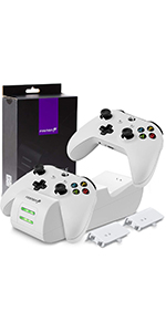 Fosmon Dual PRO Controller Charger Compatible with Xbox One / One X / One S