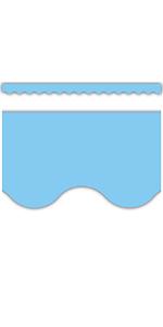light blue Scalloped Border Trim