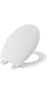 no pinched fingers, pinching, adjustable, toilet seat, round, elongated, mayfair, bemis, church, USA