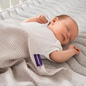 70X90 Manta Polar para Bebe Clevamama 3458 Manta para Beb/é O Reci/én Nacido de Lana
