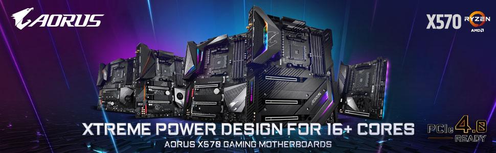 x570, motherboard, gigabyte, aorus, ryzen, amd