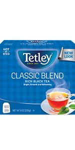 classic black hot tea