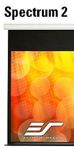 elite screens spectrum 2 electric motorized drop down ceiling wall aluminum casing tubular motor
