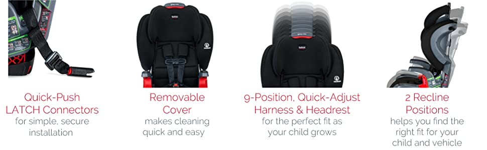 Britax Grow With You Additional Features