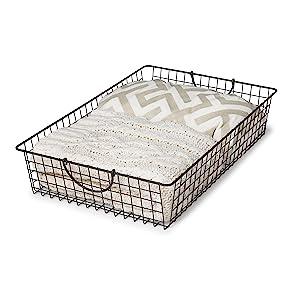 Bath Towel Basket Bin Handles Large Organizer Blankets Storage Kitchen Closet