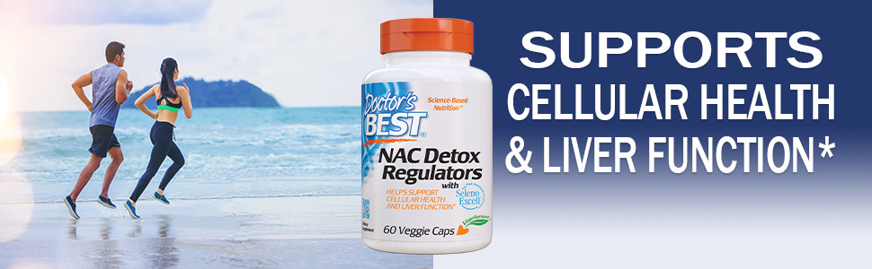 Doctor's Best NAC Detox Regulators with Seleno Excell, Non-GMO, Vegetarian,  Gluten Free, Soy Free, 60