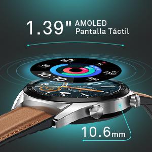 """reloj inteligente de 1.39 """" de doble corona"""