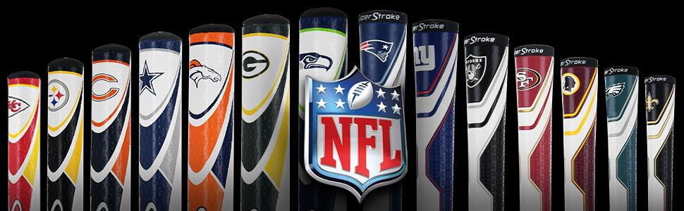 Golf, Putter, Club, Grip, Licensed, Grip, Ball Marker, Rubber, Technology, Texture, NFL, Football