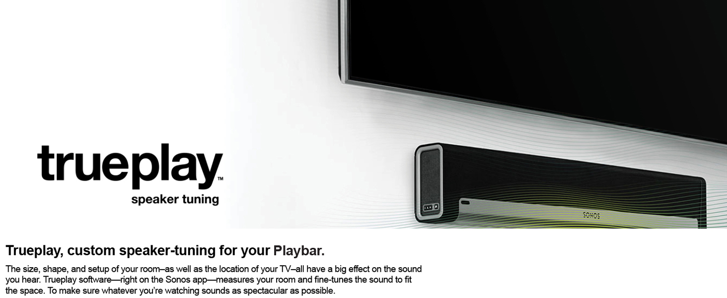 Sonos playbar tv soundbar wireless streaming for Yamaha yas 107bl sound bar
