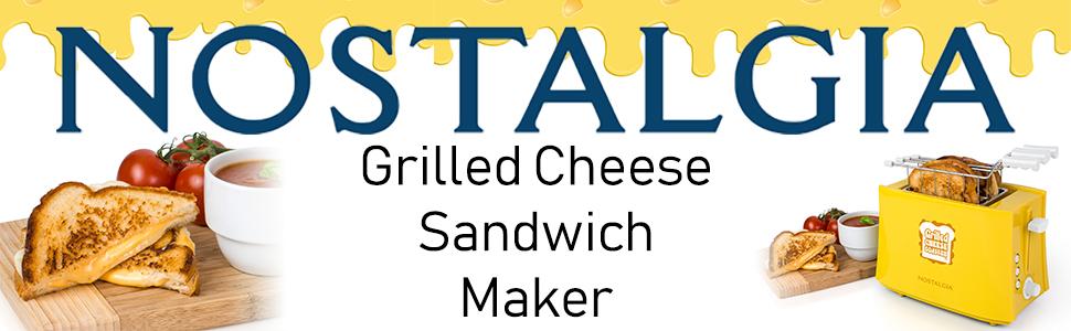 Amazon Com Nostalgia Tcs2 Grilled Cheese Toaster With