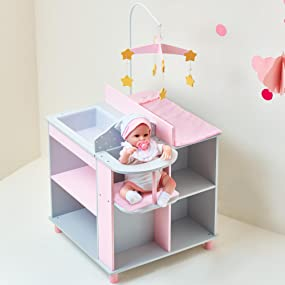 american.girl.inch.wooden.play.toy.seat.sink.white.pink.décor