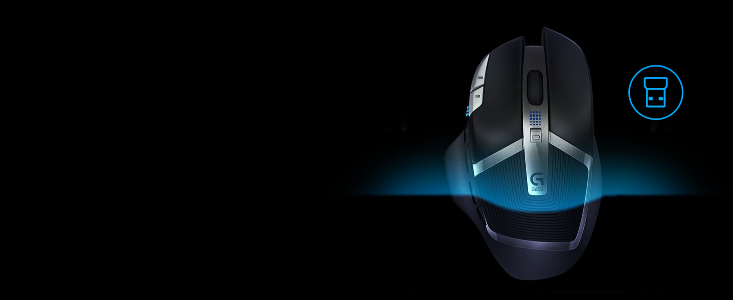 Logitech G602 Lag Free Wireless Gaming Mouse 11 24ghz Optical Technology