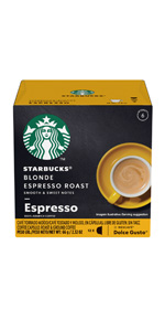 nescafe dolce gusto starbucks blonde espresso roast