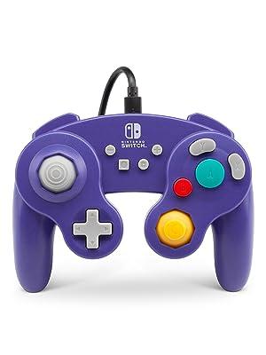 Mando Con Cable Estilo Gamecub, Morado (Nintendo Switch): Amazon.es: Videojuegos