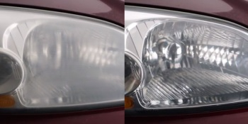 See a clear difference in headlamp clarity in just one application