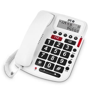 SPC Comfort volume teléfono fijo con teclas grandes y