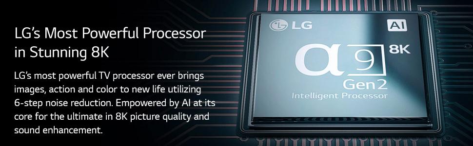 a9 gen 2 8k processor images action and color 6 step noise reduction
