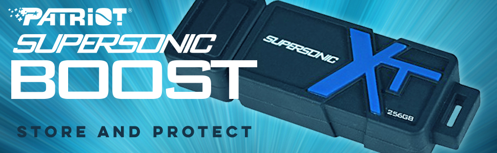 Patriot Supersonic Boost USB 3.0 Flash Drive rubber coated housing storage protection